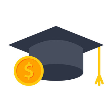 529 college savings plan concept with graduation cap and coin