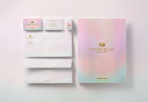 Luxury Gold-Embossed Corporate Stationery Mockup 12