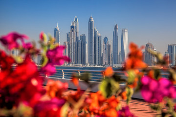 View of Dubai Marina from Palm Jumeraich, United Arab Emirates