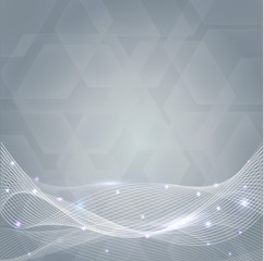 Abstract transparent lines background design
