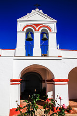 "Hermitage of ""Nuestra Segnora del Amparo"" , protection virgin  in a village named ""Cumbres Mayores"" in Huelva, Andalusia, Spain."