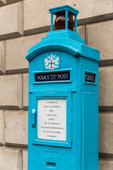 Old Police Public Call Post in the City of London