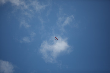 light aircraft in the sky