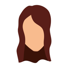 woman avatar character isolated icon vector illustration design
