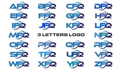 3 letters modern generic swoosh logo  AFQ, BFQ, CFQ, DFQ, EFQ, FFQ, GFQ, HFQ, IFQ, JFQ, KFQ, LFQ, MFQ, NFQ, OFQ, PFQ, QFQ, RFQ, SFQ, TFQ, UFQ, VFQ, WFQ, XFQ, YFQ, ZFQ