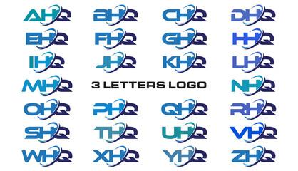 3 letters modern generic swoosh logo  AHQ, BHQ, CHQ, DHQ, EHQ, FHQ, GHQ, HHQ, IHQ, JHQ, KHQ, LHQ, MHQ, NHQ, OHQ, PHQ, QHQ, RHQ, SHQ, THQ, UHQ, VHQ, WHQ, XHQ, YHQ, ZHQ