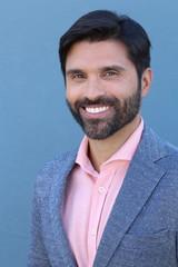 Brunette handsome young businessman smiling