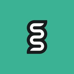 Double letter s logo