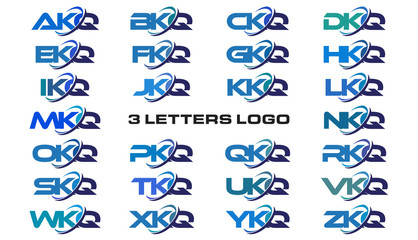 3 letters modern generic swoosh logo  AKQ, BKQ, CKQ, DKQ, EKQ, FKQ, GKQ, HKQ, IKQ, JKQ, KKQ, LKQ, MKQ, NKQ, OKQ, PKQ, QKQ, RKQ, SKQ, TKQ, UKQ, VKQ, WKQ, XKQ, YKQ, ZKQ