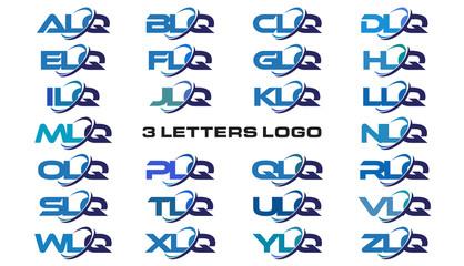 3 letters modern generic swoosh logo  ALQ, BLQ, CLQ, DLQ, ELQ, FLQ, GLQ, HLQ, ILQ, JLQ, KLQ, LLQ, MLQ, NLQ, OLQ, PLQ, QLQ, RLQ, SLQ, TLQ, ULQ, VLQ, WLQ, XLQ, YLQ, ZLQ