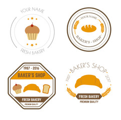 Vector icons of fast food logo