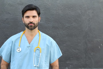 Serious mid adult male doctor