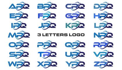 3 letters modern generic swoosh logo  ARQ, BRQ, CRQ, DRQ, ERQ, FRQ, GRQ, HRQ, IRQ, JRQ, KRQ, LRQ, MRQ, NRQ, ORQ, PRQ, QRQ, RRQ, SRQ, TRQ, URQ, VRQ, WRQ, XRQ, YRQ, ZRQ