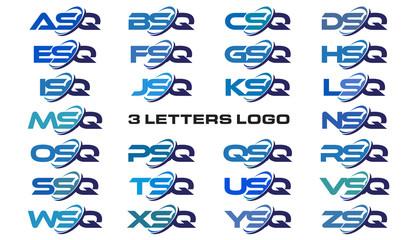 3 letters modern generic swoosh logo  ASQ, BSQ, CSQ, DSQ, ESQ, FSQ, GSQ, HSQ, ISQ, JSQ, KSQ, LSQ, MSQ, NSQ, OSQ, PSQ, QSQ, RSQ, SSQ, TSQ, USQ, VSQ, WSQ, XSQ, YSQ, ZSQ