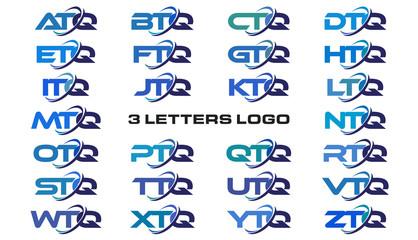 3 letters modern generic swoosh logo  ATQ, BTQ, CTQ, DTQ, ETQ, FTQ, GTQ, HTQ, ITQ, JTQ, KTQ, LTQ, MTQ, NTQ, OTQ, PTQ, QTQ, RTQ, STQ, TTQ, UTQ, VTQ, WTQ, XTQ, YTQ, ZTQ