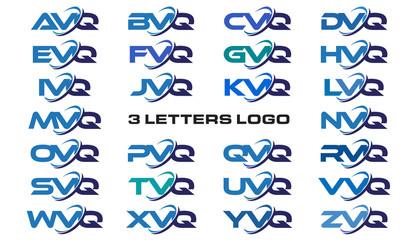 3 letters modern generic swoosh logo  AVQ, BVQ, CVQ, DVQ, EVQ, FVQ, GVQ, HVQ, IVQ, JVQ, KVQ, LVQ, MVQ, NVQ, OVQ, PVQ, QVQ, RVQ, SVQ, TVQ, UVQ, VVQ, WVQ, XVQ, YVQ, ZVQ