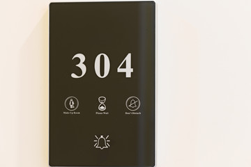 Luxury Hotel Electronic Doorplate Touch Doorbell Switch with Roo