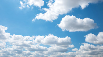 Beautiful White cloud and blue sky