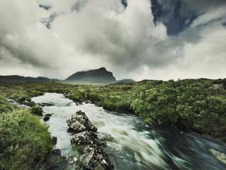 Highland stream, Scotland, United Kingdom, Europe