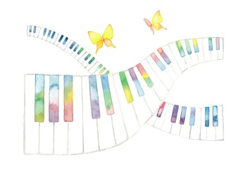 虹色鍵盤とチョウチョ、交差
