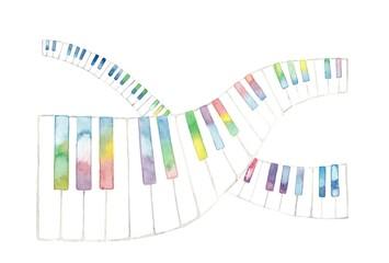 虹色鍵盤、交差