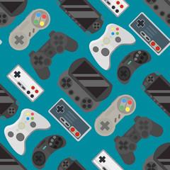 Gamepad colorful seamless pattern