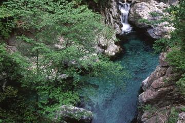 初夏の渓谷