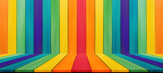Empty candy rainbow color tabletop for display montage your prod