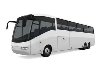 White Travel Bus