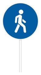 Prescriptive traffic sign - Pedestrian path
