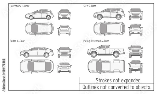Quot Car Drawing Outlines Not Converted To Objects Quot Stockfotos
