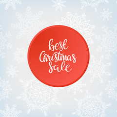 Merry Christmas sale background. Vector art.