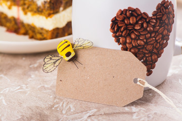 Coffee and craft tag