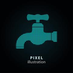 Faucet - pixel illustration.