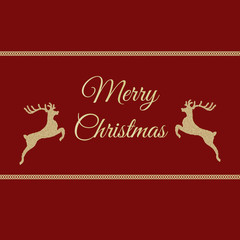 Knitted  red deer christmas card eps 10 vector