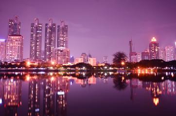 Thailand city night scape