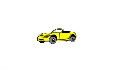 Vector cartoon retro muscle car and transportation