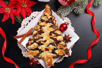 poppy cake in christmas tree shape