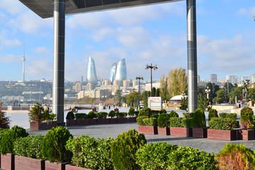 Seaside boulevard in Baku, Azerbaijan