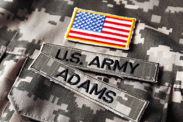 U.S. army uniform, closeup