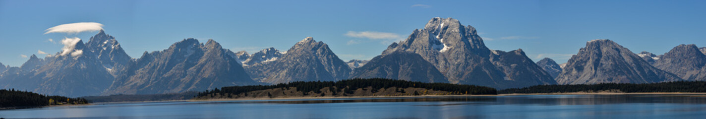 Panorama of Teton Range