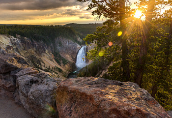 Grand Canyon of Yellowstone National Park, USA Wall mural