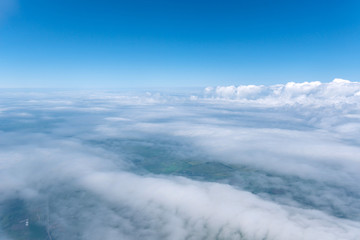 Skyscape viewed from airplane
