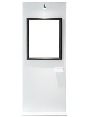 Blank Mock up Picture frame with spot light Gallery Exhibition display