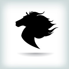 Horse Logo Template. Vector illustration