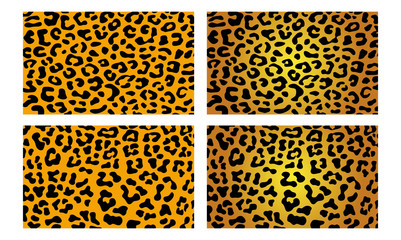 Leopard Cheetah Jaguar Wildlife Vector Skin Pattern