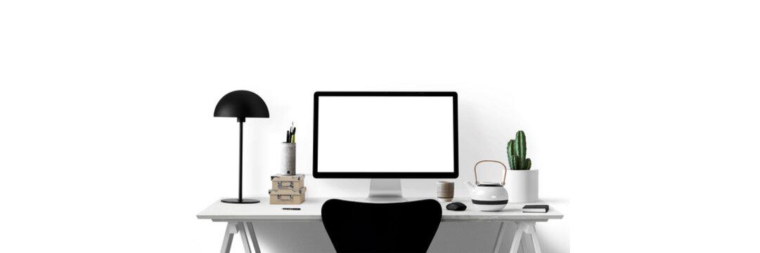Moderne Arbeitsplatz - Banner - Textfreiraum