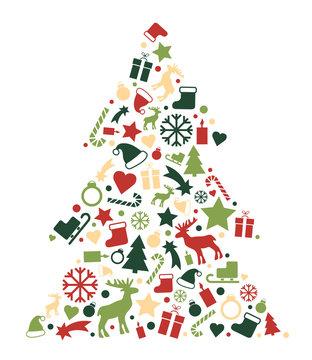 Weihnachtsbaum aus Icons