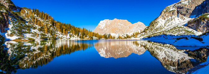 reflections in lake seebensee - tyrol - europa - austria