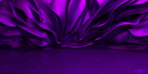 Purple background with swaying cloth